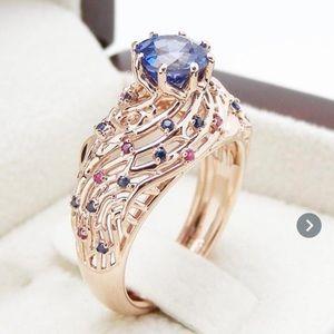 B3G1 Little Something Blue & Pink Basket Ring
